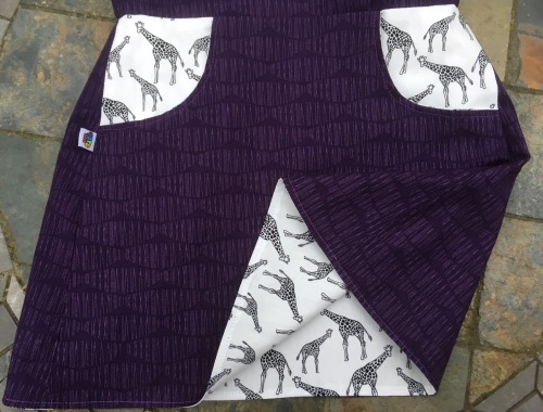 Age 5 reversible skirt with giraffes