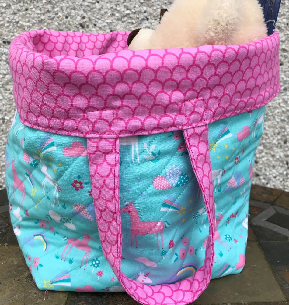 Unicorn quilted Bucket Bag
