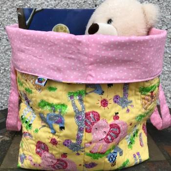 Safari animals Quilted Storage Bucket Bag