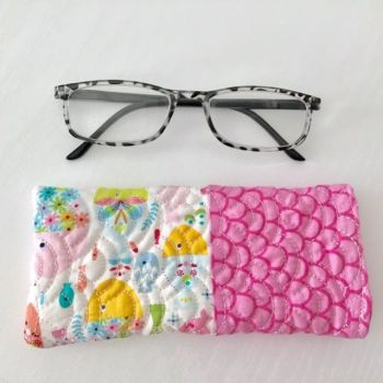 """Fishy"" Quilted Glasses Case"