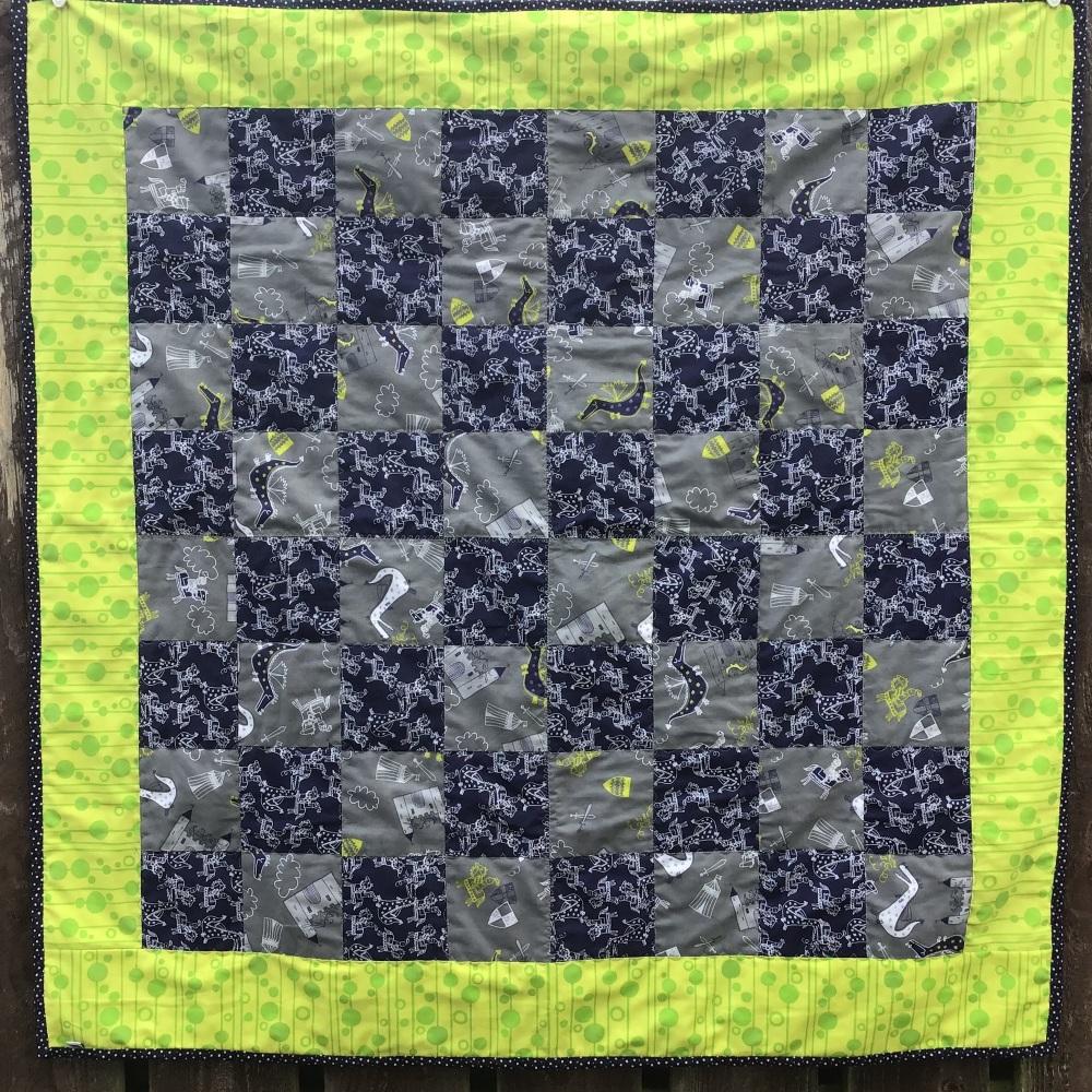 "Farmyard and flower Handmade Patchwork quilt 45"" x 45"""