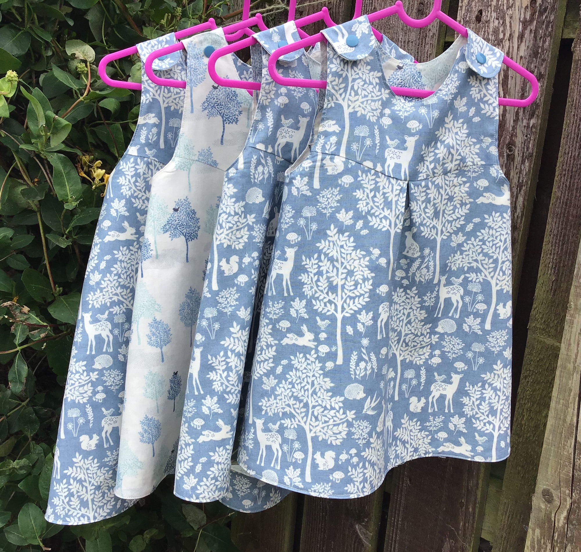 Blue forest dresses