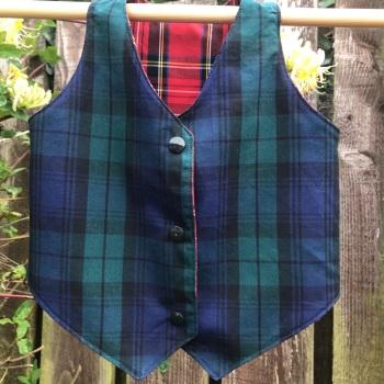 Reversible Tartan Waistcoat 12-18 months