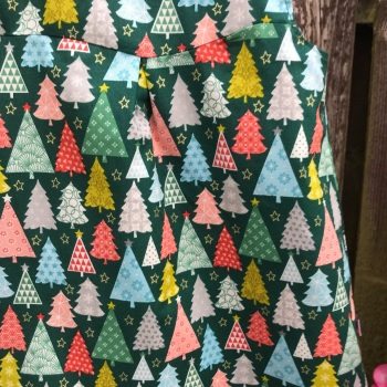 Christmas Reversible Dress with Trees and Snowflakes  - 6-9 months