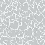 Pewter mini hearts fabric by Makeower - sold by the 0.5 metre