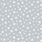 Pewter mini stars fabric by Makeower - sold by the 0.5 metre