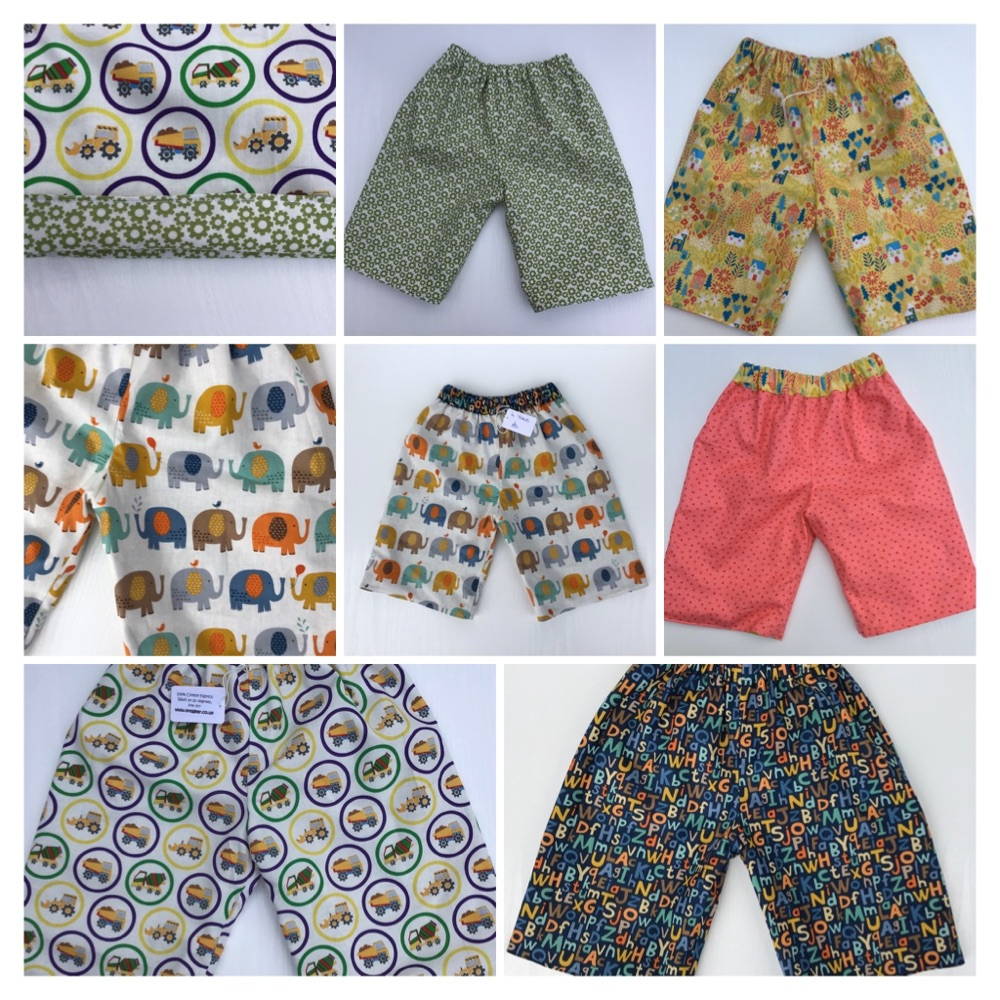Children's Reversible Shorts - 2yrs to 10 yrs