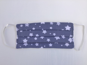 Light grey with white stars Face Mask - 4 sizes/options available to order