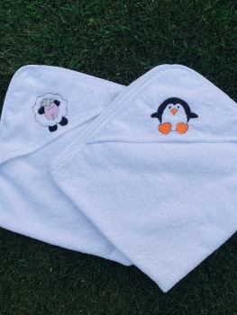 Hooded Baby Towel - Sheep (with option to personalise)