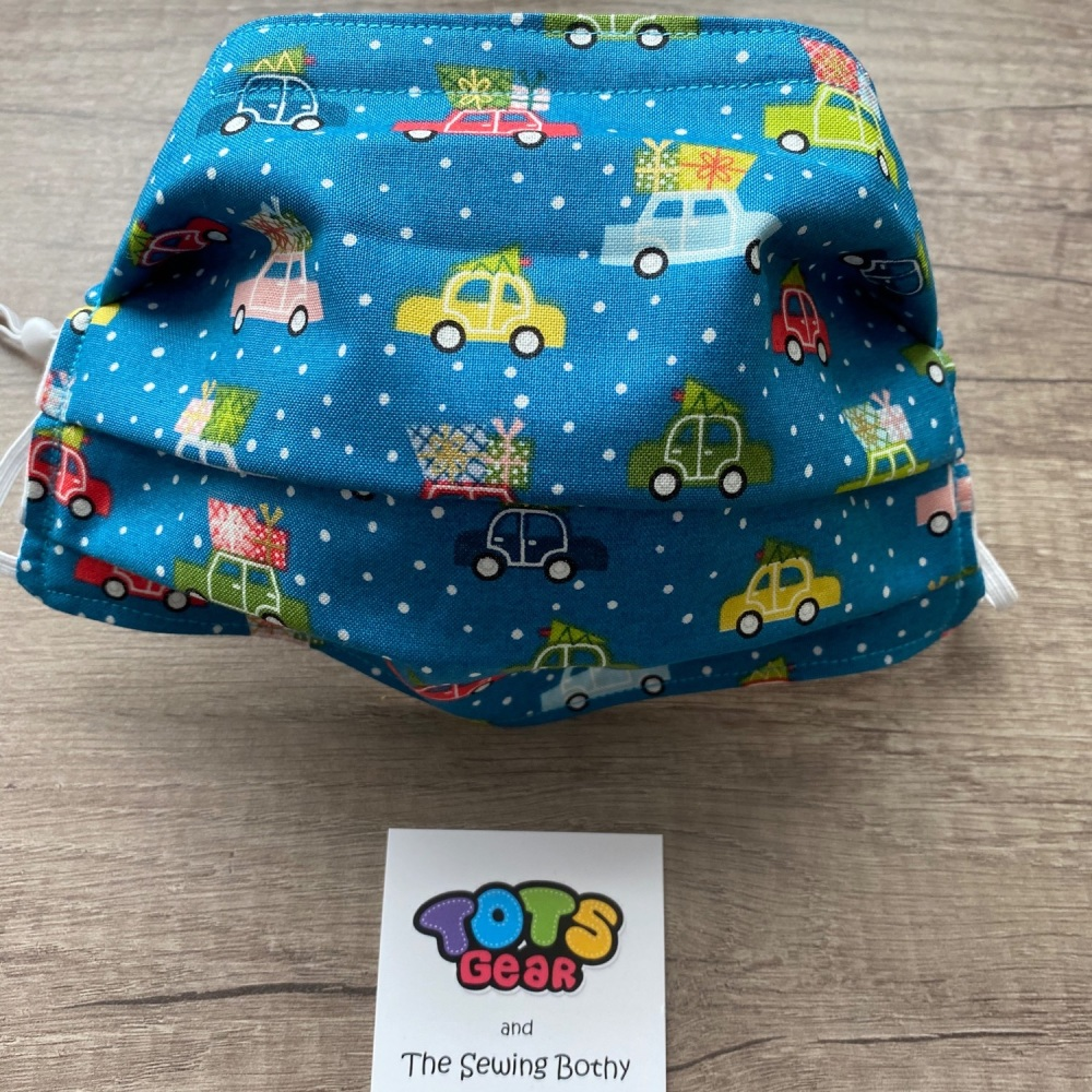 Christmas Cars Face Mask - 4 sizes/options available to order