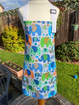 Child's Reversible Elephant Apron - 3 sizes available to order