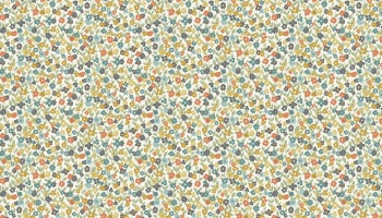 Clara's Garden - Mini Floral pattern  Fabric by Makower - sold by the 0.5 metre