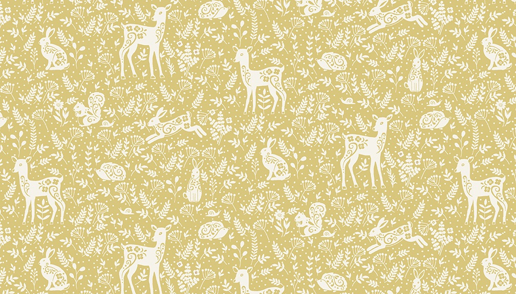 Mini Floral pattern (Clara's Garden) Fabric by Makower - sold by the 0.5 me