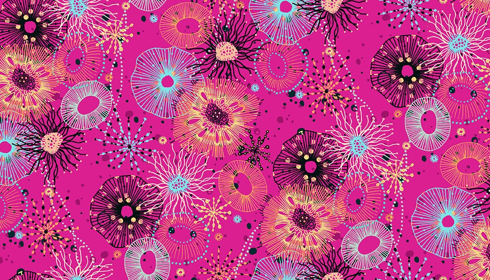 Reef Pink fabric by Makeower - sold by the 0.5 metre