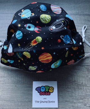 Planets on a Black Background Face Mask - 4 sizes/options available to order