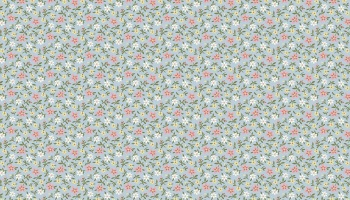 Mayflower - Mini flowers on light blue Fabric by ANDOVER - sold by the 0.5 metre