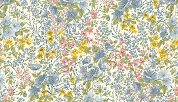 Mayflower -  Multi coloured flower Fabric by ANDOVER - sold by the 0.5 metre