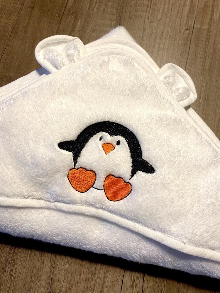 Hooded Baby Towel - Penguin