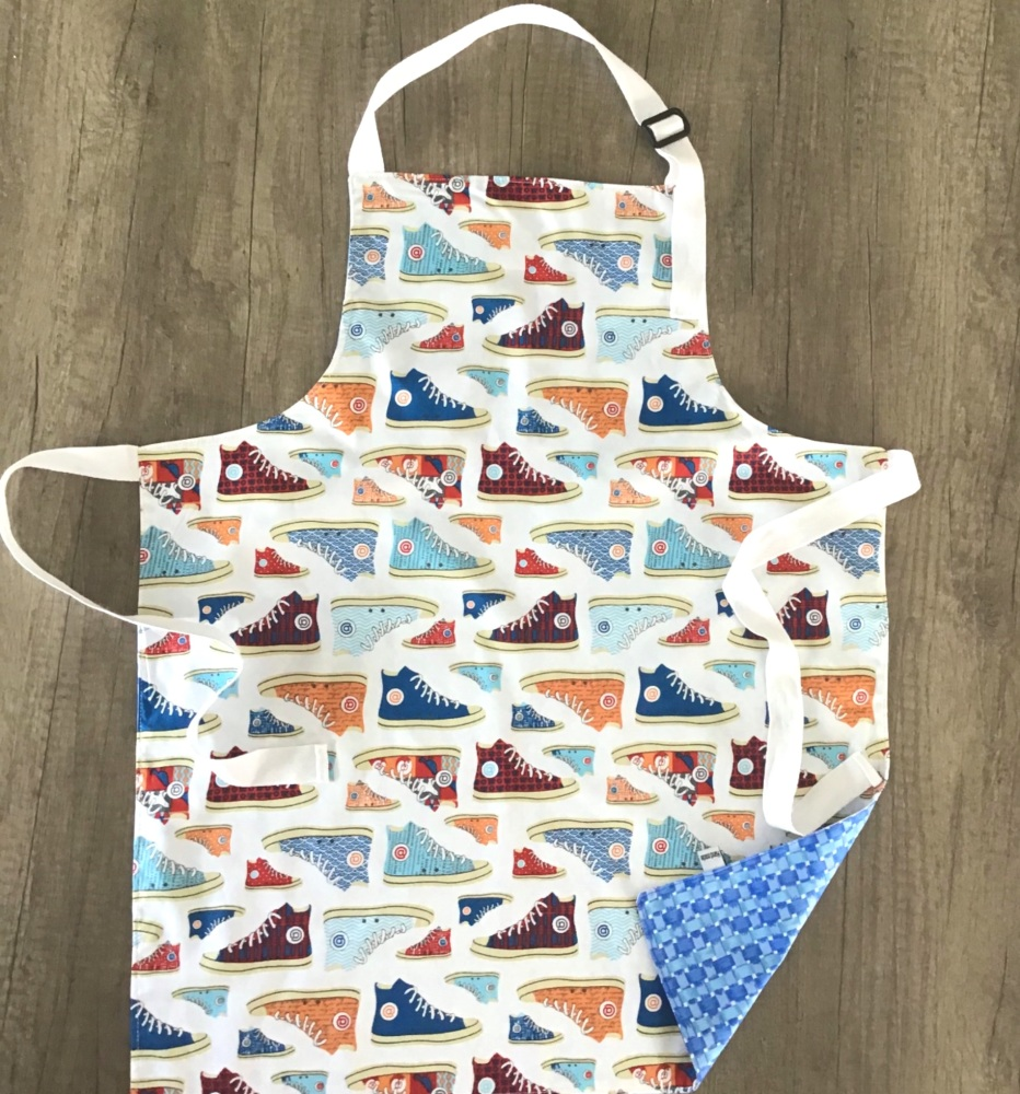 Dinosaur and Stars Reversible Apron -  3-5yrs, 6-12yrs and Adult sizes avai