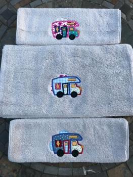 Luxury Motorhome Applique Hand Towel (choice of 4 towel covers)