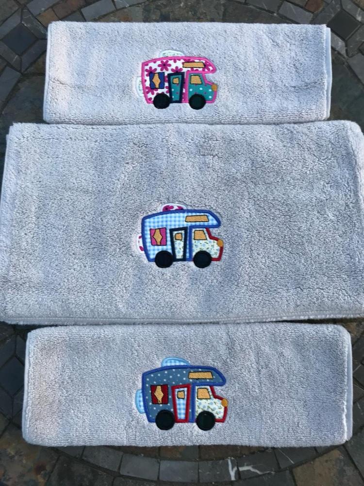 Luxury Motorhome Applique Hand Towel
