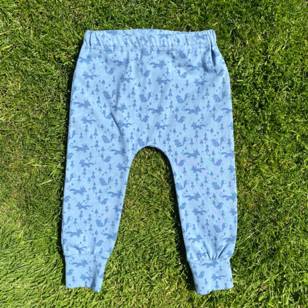 Blue mini Forest Cuffed Leggings - up to 2 years