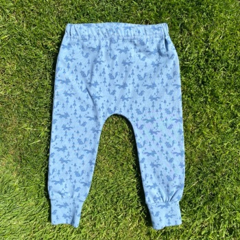 Foxes and Trees on Blue Cuffed Baby/Toddler Leggings - up to 2 years