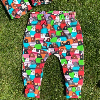 Colourful Bear cuffed Leggings - up to 6 years