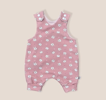 Bunny Rabbits and Bears Reversible Romper - 0-3 months up to 18-24 months