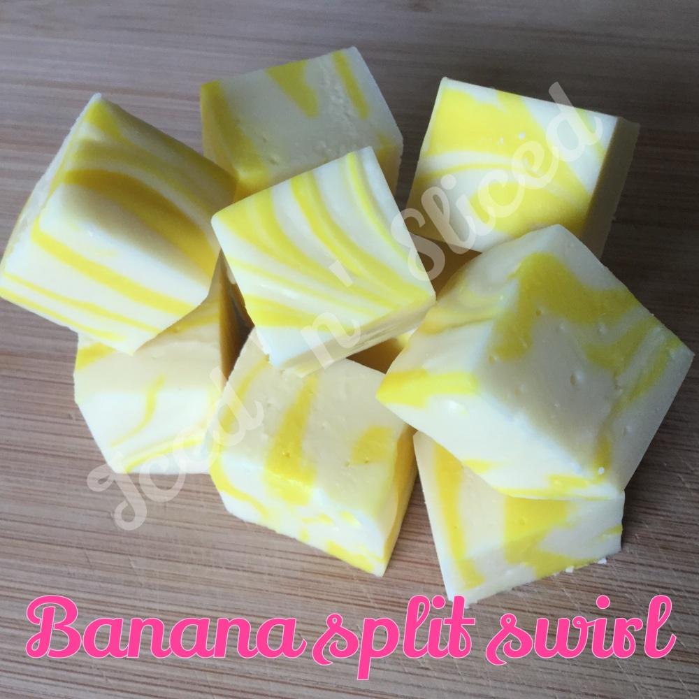 Banana Split Swirl Fudge Pieces