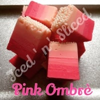 Pink Ombre fudge pieces