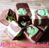 Mint Chocolate Swirl fudge pieces