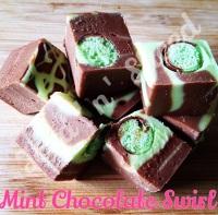Mint Chocolate Swirl fudge pieces