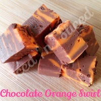 Chocolate Orange Swirl fudge pieces
