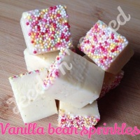 Vanilla Bean Sprinkles fudge pieces