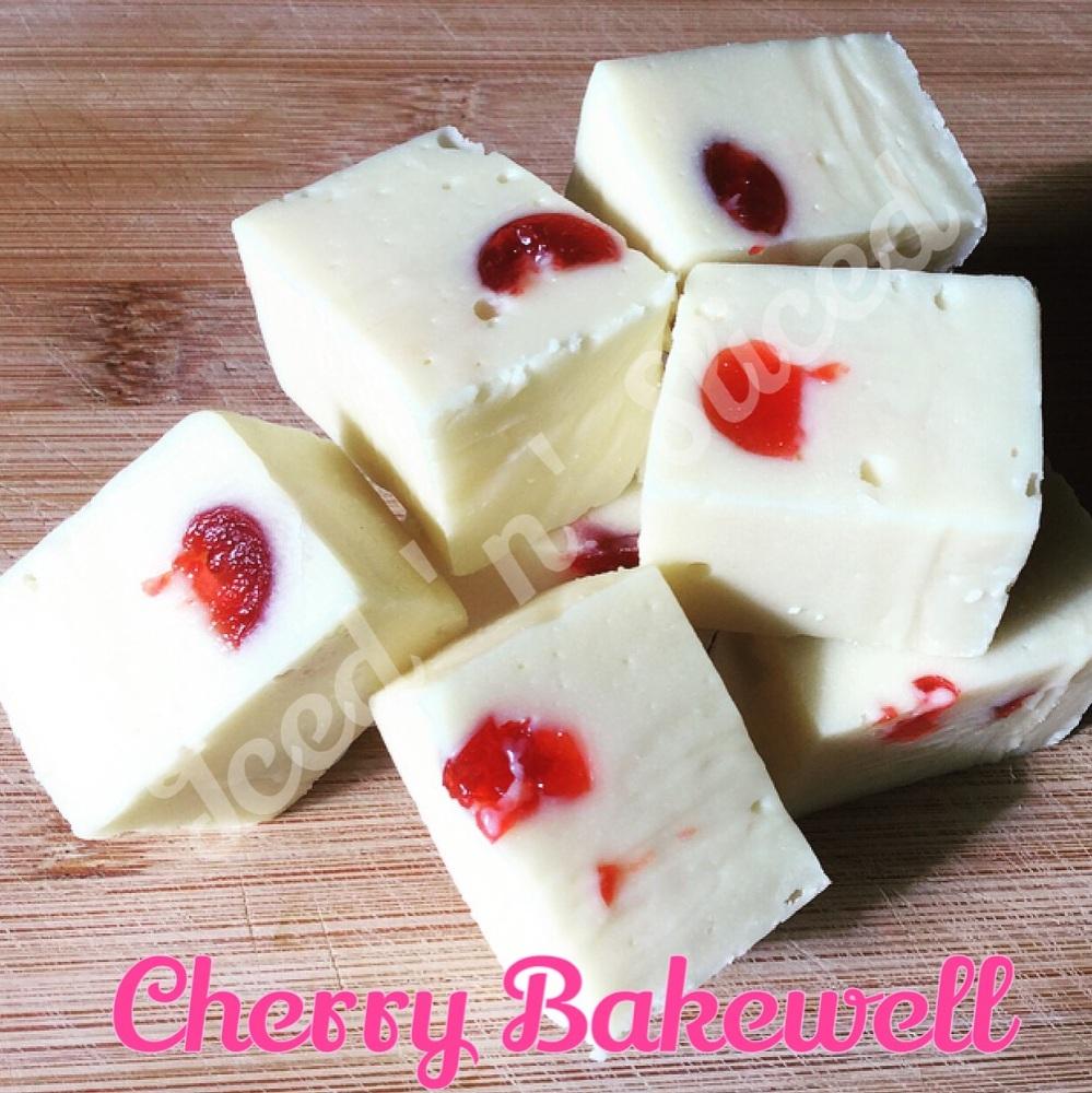 Cherry Bakewell fudge pieces