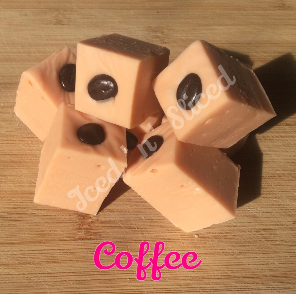 Coffee fudge pieces
