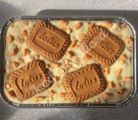 Biscoff fudge tray
