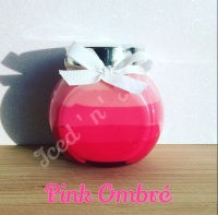 Pink ombre little pot of fudge