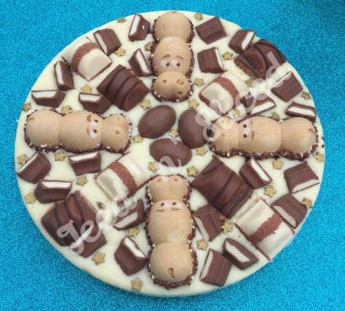 Kinder Krazy fudge pizza