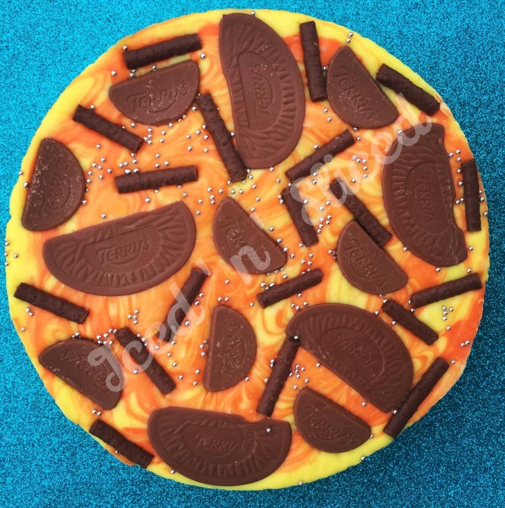 Orange Swirl fudge pizza
