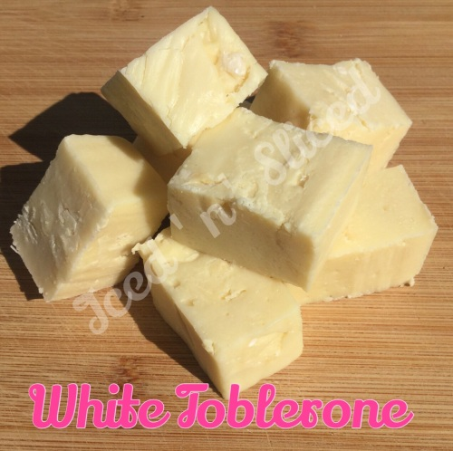 White Toblerone Pieces