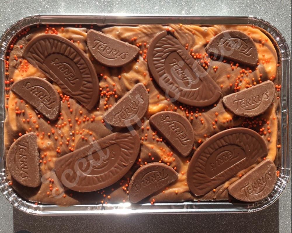 Chocolate Orange Swirl Fudge Tray