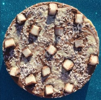 Coconut Bounty Swirl Fudge Pizza