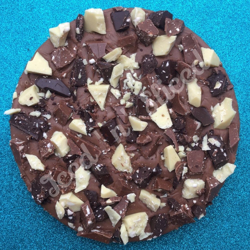 Triple Toblerone Fudge Pizza
