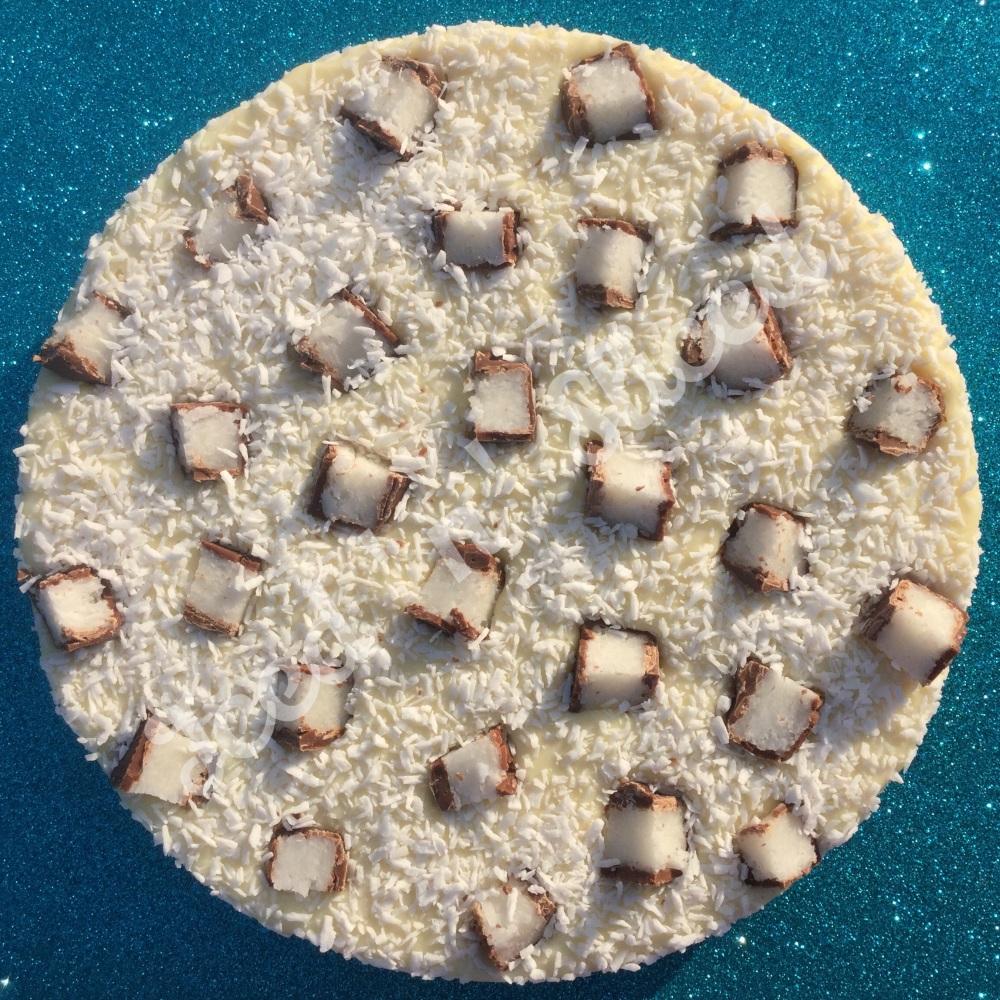 Coconut Bounty Fudge Pizza