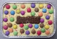 Smarties fudge tray