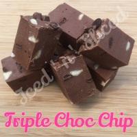 Triple Choc Chip fudge pieces