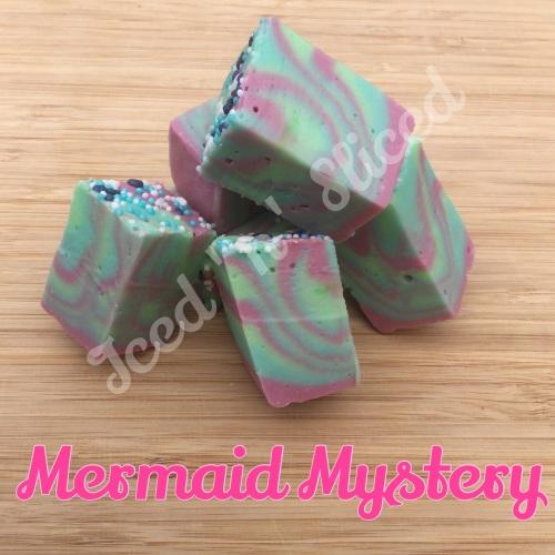 Mermaid Mystery fudge pieces