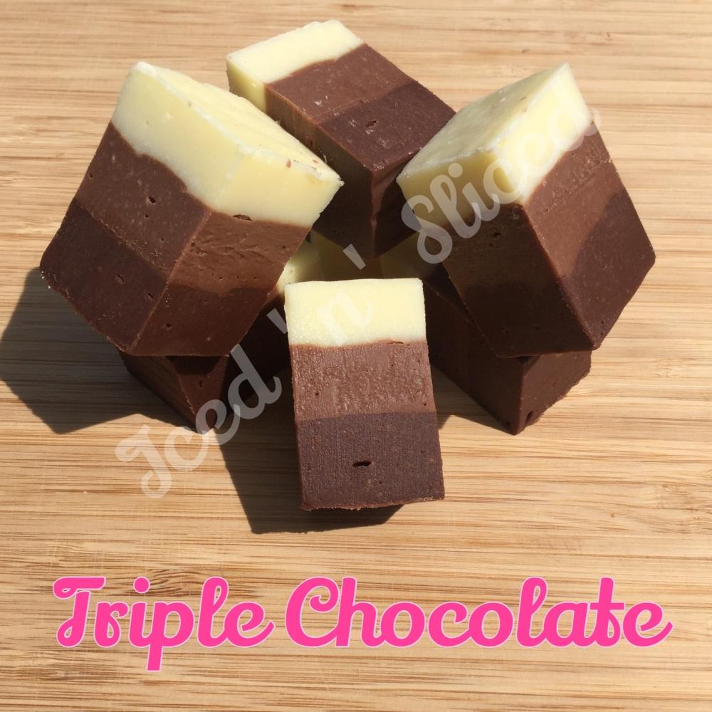 Triple Chocolate fudge pieces